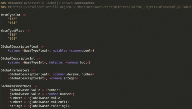 dharma grammar wasm webassembly security fuzzing chrome v8 patrick ventuzelo