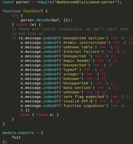 wasm fuzzer jsfuzz webassembly parser